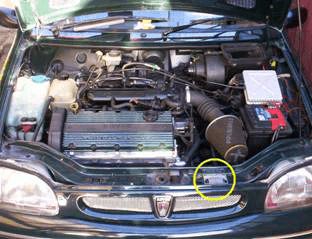 engine bay paint code location