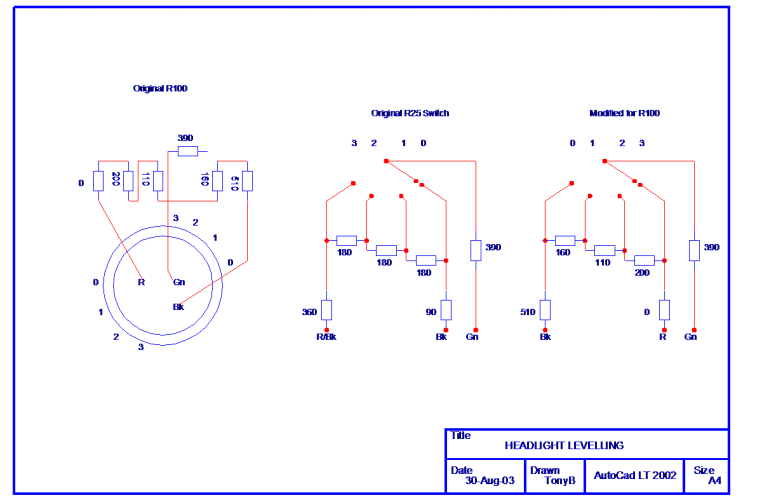 rover 100 headlight levelling switch circuit diagram