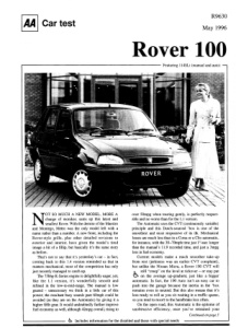 Car Test - Rover 114 SLi